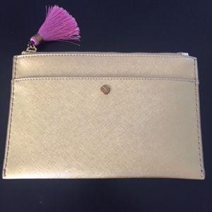 J. Crew Medium Gold pouch